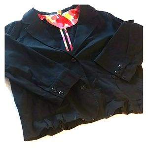 Black cotton jacket/blazer xxl